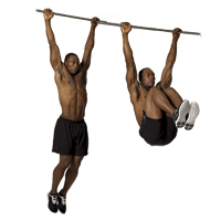 hanging leg raises bent