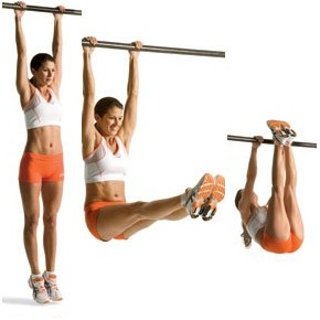 hanging leg raises straight