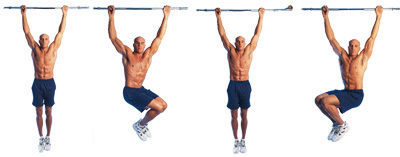 hanging leg raises twist